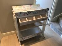 Cosatto changing table with bath on wheels