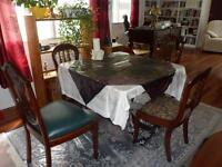 Duncan Fife Table and 4 chairs