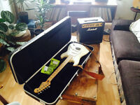 Fender Stratocaster Bundle with Marshall Amplifier