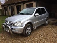 Mercedes ML 270 automatic 7 seater, long MOT, excellent condition 4x4 lots of extras