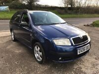 SKODA FABIA BOHEMIA 1.4 TDI ESTATE BLUE 2006