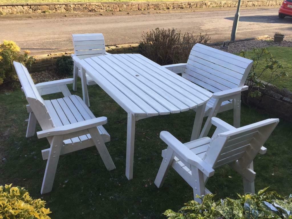 Chunky garden furniture set Chairs & Bench | in ...