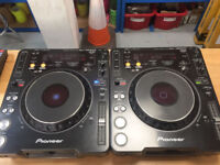 Pair of Pioneer CDJ 1000 mk3 CD DJ turntables