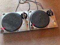 Technics SL 1200 MK2 II Matching Pair Decks Record Turntables