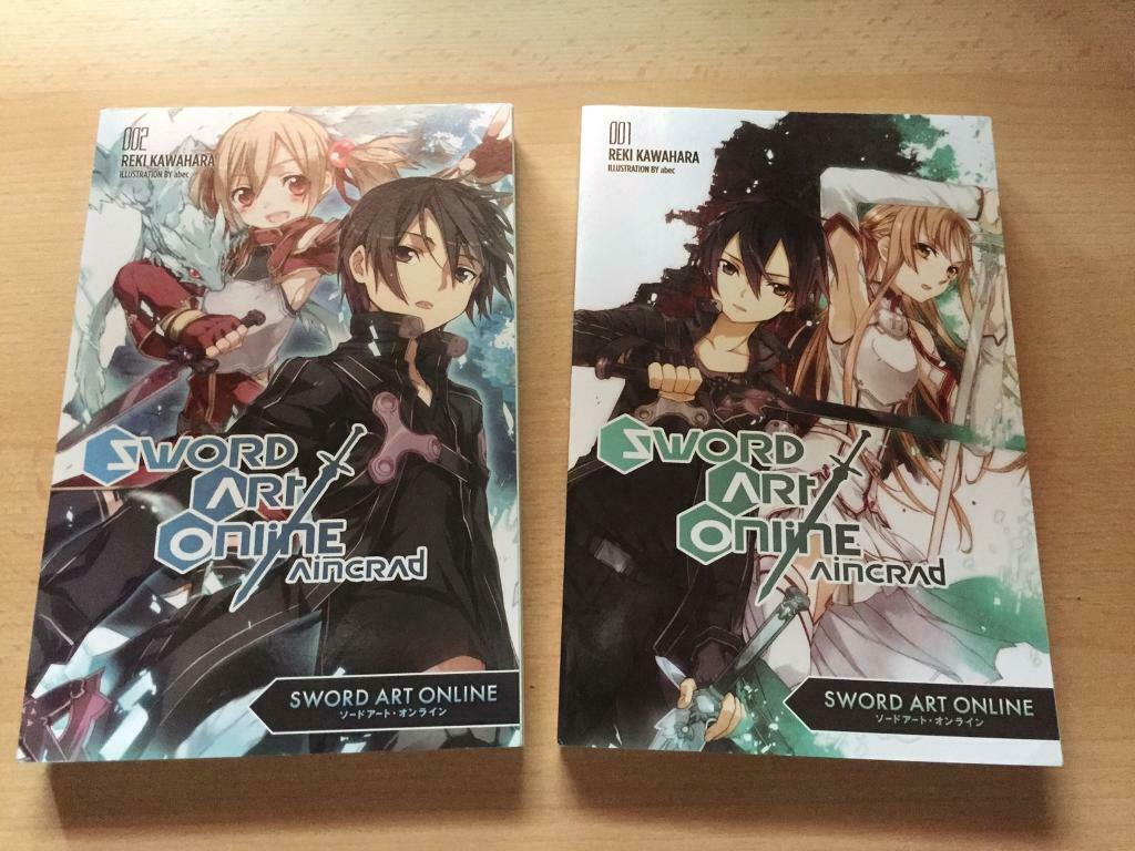 Sword Art Online Aincrad books vol 1&2 | in Great Yarmouth