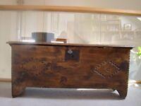 Antique wooden coffer/chest