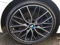 """BMW M PERFORMANCE 20"""" F20 Alloy Wheels with Runflat Tyres"""