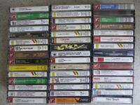 Collection of 154 Classical Cassettes, Varied Assortment, Good condition.