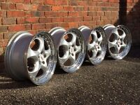 Rial deep dish alloy wheels, split rims, 5x100, Vw Golf Vr6, Golf mk4, corrado