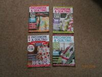 Patchwork & Quilting Magazine, 12 issues Jan to Dec 2014