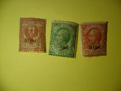 Italy Aegean Islands Simi Stamp Sc# 1-3 MNH gum toning.