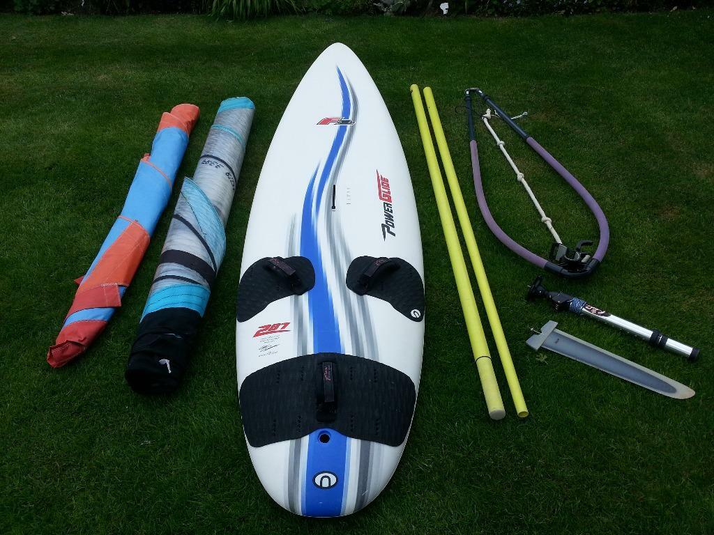 f2 powerglide 287 windsurfing board with 2 sails and rigging in tunbridge wells kent gumtree. Black Bedroom Furniture Sets. Home Design Ideas