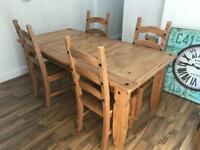 The Pier (Pier Imports) Table with 4 chairs and matching sideboard