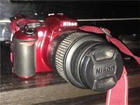 Nikon D3100 (super rare red) DSLR