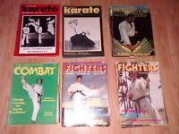 40 x karate , martial arts magazines / book / 70's /80's - bruce lee chuck norris