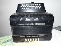 Hohner compadre accordian like new BC C Sharp tunning