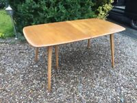 Early Ercol Grand Windsor Extending 10 Seater Dining Table Blonde Elm No. 444