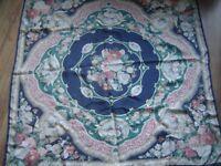 JAEGER Large Silk Botanical Garden Shawl/Scarf