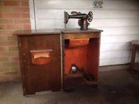 Vintage sewing machine cabinate