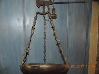 Antique brass beam scales