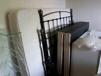 Double Bed frame, base and mattress