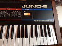 Mint Roland Juno 6 + hard case and manual