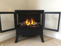 Opti-myst Flame & Smoke effect electric fire; Cast Iron, Stove style Log Burner with remote control