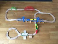 My first wooden train track set