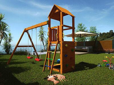 "Spielturm ""Flappi"" Spielhaus Stelzenhaus Kinderspielturm Kletterturm für Kinder"