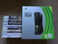 Xbox 360S - 250GB - Boxed - 14 Games - Bundle