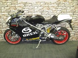 04-04 DUCATI 749 BP IN BREIL COLOURS FROM NEW 5300 MILES F.S.H HPI CLEAR
