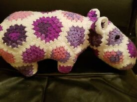Hand Crocheted HIppo