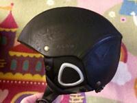Ski helmet leather
