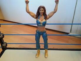 wwe wrestling figure diva Mickie James RARE