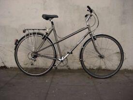 Ladies Vintage Retro Hybrid/ Commuter Bike By Condor, Grey, Top Spec, JUST SERVICED!!!!!!!!!!!!!!!!!