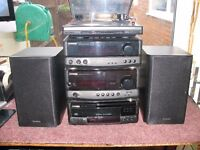 Kenwood 4 Section Seperates With Speakers, Model A-F5.