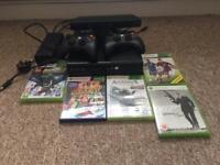 Xbox 360 Kinect 5 games 2 controllers(500gb)