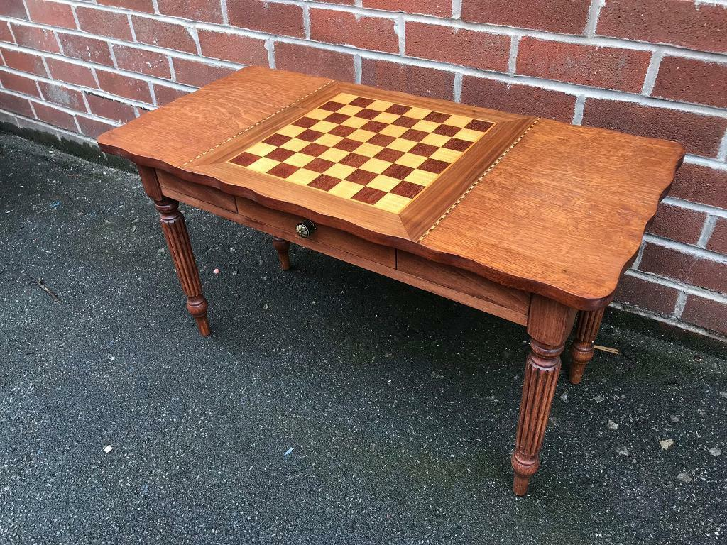 Peachy Vintage Chess Coffee Table Wood Draughts Games Table Man Cave In Batley West Yorkshire Gumtree Ncnpc Chair Design For Home Ncnpcorg