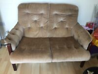 Two seater sofa free to collector