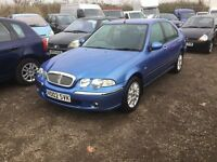 02 reg rover 45 saloon car In superb condition drives lovely driving family saloon luxury cloth seat