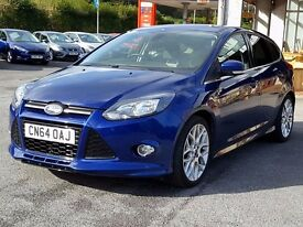 "2014 64 Ford Focus ZSBlu TDCi 1.6, One Owner, Low Mileage, £20 Tax, FSH, 18"" Alloys, Deep Impac..."