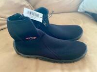TWF 3mm Aqua Wetsuit Boots Size 40 Neoprene Surf Kayak Sailing