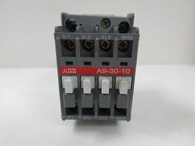 ABB NON-REVERSING CONTACTOR A9-30-10 , 1000VAC,26AMP MAX