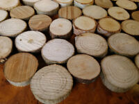 SMALL 2-5cm LOG SLICES, cut tree branch slicesfor crafts, mozaics, art work