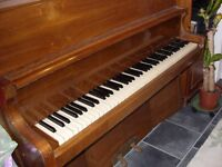 UPRIGHT PIANO, OVERSTRUNG - IN GOOD CONDITION