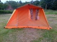 FRAME TENT - RETRO 5 PERSON - SEPARATE SLEEPING AND SOCIAL/ EATING SECTIONS