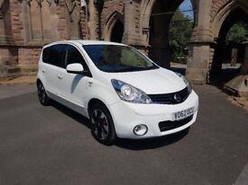 2012 62 Nissan note 1.4 ntec+ 96,351miles sat nav rear parking sensors half leather interior