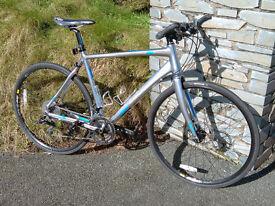 FOR SALE - 2014/5 Boardman Hybrid Team Bicycle - 54 cm frame, carbon fibre fork, hydraulic brakes