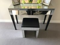 SHOW HOME FURNITURE - Mirrored console/dressing table (priced individually)