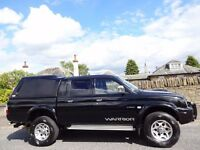 12 MONTH WARRANTY! (54) MITSUBISHI L200 WARRIOR D/C 4WD- Leather- Low Miles- Service History- NO VAT